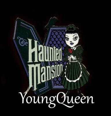 WDW Disney Haunted Mansion Gothic Girl Coffin Raven Le Pin