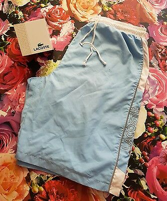 Genuine Mens LACOSTE SPORT Shorts Swim Running Casual 80s SIZE 6 XL XXL 2XL