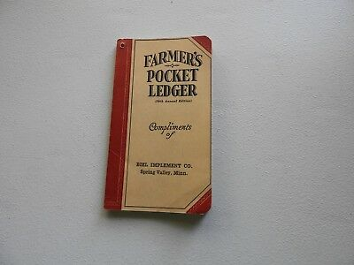 John Deere Farmers Pocket Ledger 1945 -1946 79th Annual Edition Spring Valley MN