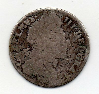 1696 Sixpence, William Iii 2Nd Bust, Reads 'gvlelmvs', R5:5-10 Known, Ext Rare