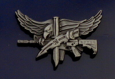 SWAT Operator Insignia with Eagle Center Mass ANTIQUE SILVER police/sheriff pin