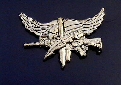 SWAT Operator Insignia with Eagle Center Mass POLISHED SILVER police/sheriff pin
