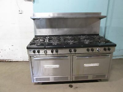 """SOUTH BEND 320 SS"" HD COMMERCIAL (NSF) NAT. GAS 10 BURNER STOVE/RANGE w/2 OVENS"