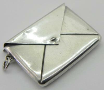 Antique Solid Silver Stamp Case Fob, c1900.