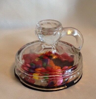 Vintage Original Glass Camber Stick (Candle Stick) Candy Container
