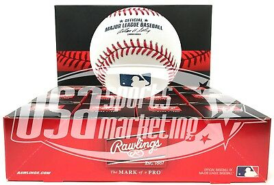 (12) Rawlings Official Major League Game Baseball Selig ROMLB Boxed - Dozen