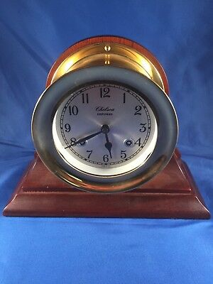 Vintage Chelsea Shipstrike Clock Nautical Ships Maritime Decor USA Trophy Award