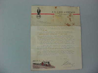 VINTAGE 1920's-30's J.I. CASE MAIL-OUT TRACTOR BROCHURE (L, C, CC, CO, CI AND L)