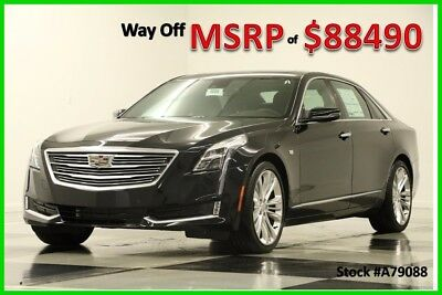 2017 Cadillac Other CT6 MSRP$88490 AWD Platinum DVD Sunroof GPS Black New Leather 3.0L Twin Turbo Magnetic Ride 20 Inch Wheels 17 Wheels Auto Player