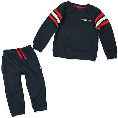 Adidas Kids Crew Baby's Jogger Tracksuit Jogging Suit Pants Blue Red White
