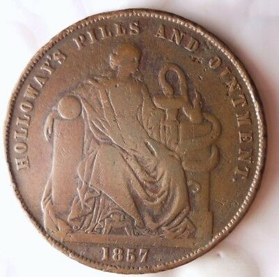 1857 GREAT BRITAIN PENNY - LONDON - Holloway's - Conder Style Coin - Lot #921