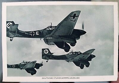 Germany WWII Stuka Dive Bombers Photograph Postcard Cover