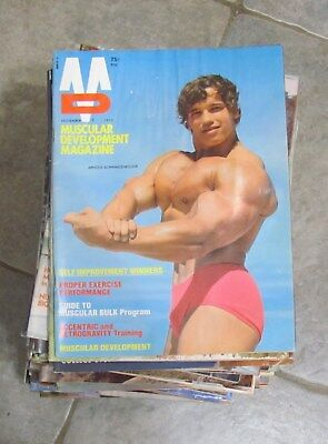 Muscle Builder - Lot Of  ( 82  )   Muscular Development Magazines- Water Damage