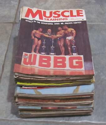 Muscle Builder -  Lot Of   (  42  )  Muscle Training Illustrated Magazines - Wat