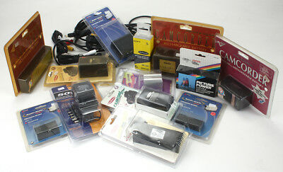 Lot Of Camcorder Batteries, Cords, Etc, All New/186076