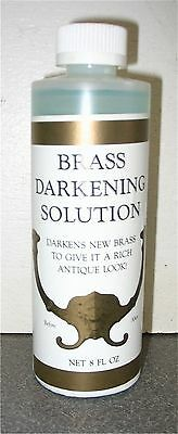 ANTIQUE METAL BRASS DARKENING SOLUTION  8oz  J3498