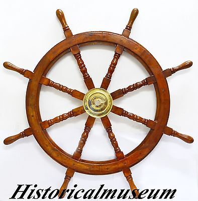 "Nautical Wooden Maritime Decor 36"" HM843  Shipwheel Ships Wheel Steering"