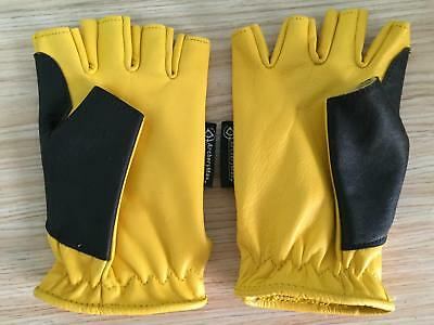 ArcheryMax Traditional Yellow Hunting Leather Left/Right Finger Shooting Glove