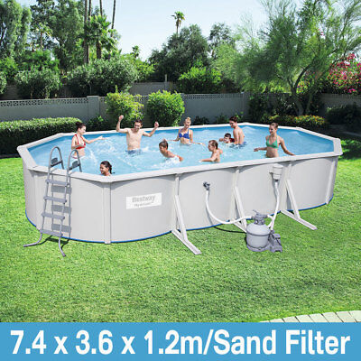 Bestway 24ft Hydrium Oval Pool 7.4x3.6x1.2m Above Ground Swimming Pool