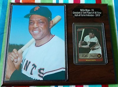 MLB, Willie Mays, Greatest 5 Tool Player of All Time , HOF Inductee-1979, Plaque
