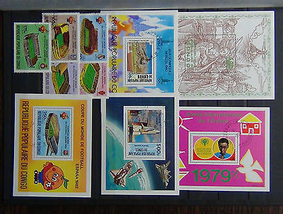 Congo 1979 Drurer M/S 1YC M/S 1980 O Games M/S World Cup M/S 1981 Space M/S FU
