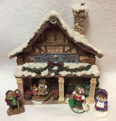 Christmas Display Two Sides (House or Shop) for Wee Forest Folk WFF not Included