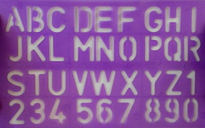 Stencil **ALPHABET & NUMBERS**  Scrapbooking - Cardmaking -  Papercrafts