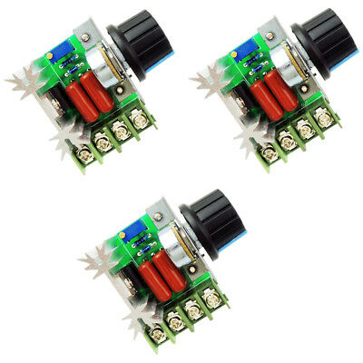 220V 2000W Speed Controller SCR Voltage Regulator Dimming Dimmers Thermostat #S1