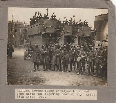 British Troops Being Conveyed to a Rest Camp, 1917.