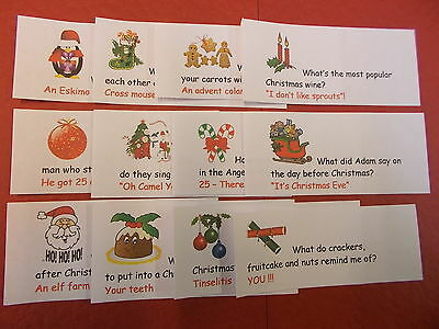 *24* Christmas Cracker Jokes. Pre-Cut Cracker Jokes *24* Diff Jokes For Crackers