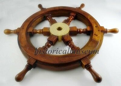 Nautical Wood HM373 Ship Wheel Pirate Captain Nautical Maritime Decor 15 inch