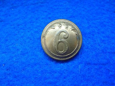 Wwi 6Th French Infantry 22Mm Brass Tunic Button, Fonson & Co  Brux