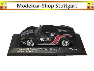 Porsche 918 Spyder Weissach Package Martini Limited Edition 336 Minichamps 1:43