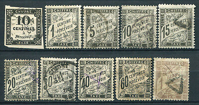 FRANCE 1859/84  LOT de 10 taxes Cote 464,00€