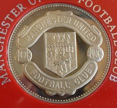Manchester United Football Club Official Medal 1977-1978 In Sandhill Case