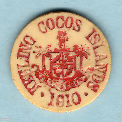 Cocos Keeling Islands. 1913 10 Cents..  VF - Very SCARCE