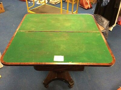 Mahogany 1830 - 1840 Card Table Early Victorian - Needs Restoration