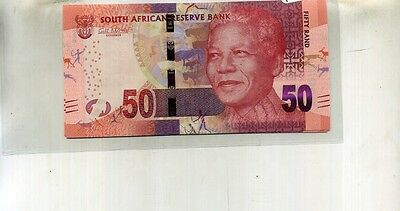 2012 50 Rand South Africa Lion Nelson Mandela 5 Consecutivel Notes Cu 405F