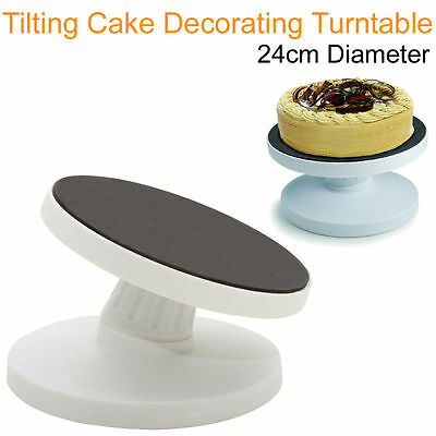 Tilting Cake Decorating Rotating Revolving Display Turntable Stand Modelling