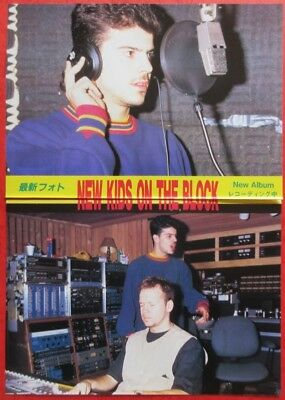 New Kids On The Block at studio 1993 CLIPPING JAPAN MAGAZINE N4 U13 2PAGE