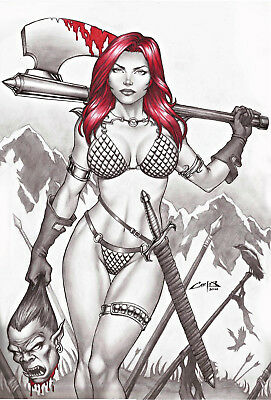 Red Sonja 2 By Carlos Augusto -Print Art, Copying, Reproduction