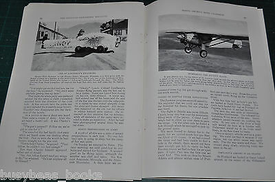 1928 magazine article Col. LINDBERGH, USA flight tour, Spirit of St. Louis