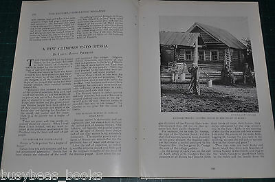1917 magazine article about RUSSIA, World War One, revolution, civilian life