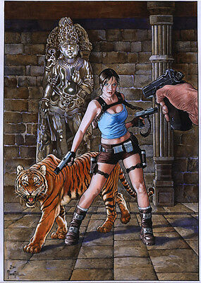 Tomb Raider  By Joe Pimentel-Print Art, Copying, Reproduction