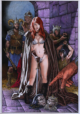 Red Sonja By Joe Pimentel-Print Art, Copying, Reproduction