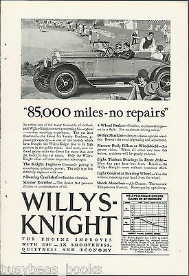 1927 WILLYS-KNIGHT advertisement, WILLYS Great Six Varsity Roadster