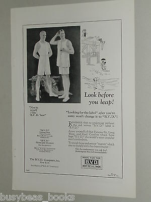 1925 B. V. D. advertisement, B.V.D. underwear, men's under clothes