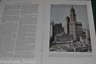 1930 magazine article NEW YORK CITY history people architecture etc color photos