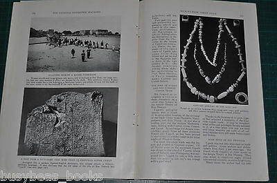 1933 magazine article about Syrian Excavations Syria Ras Shamra slates, alphabet