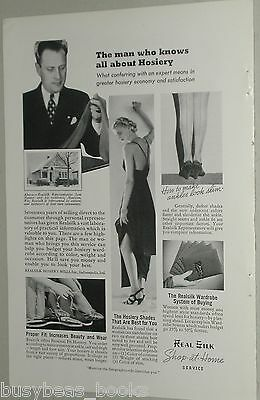 1938 Realsilk Hosiery Mills advertisement,  Lady's SILK STOCKINGS